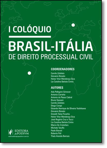 Colóquio Brasil-itália de Direito Processual Civil, livro de Camilo Zufelato