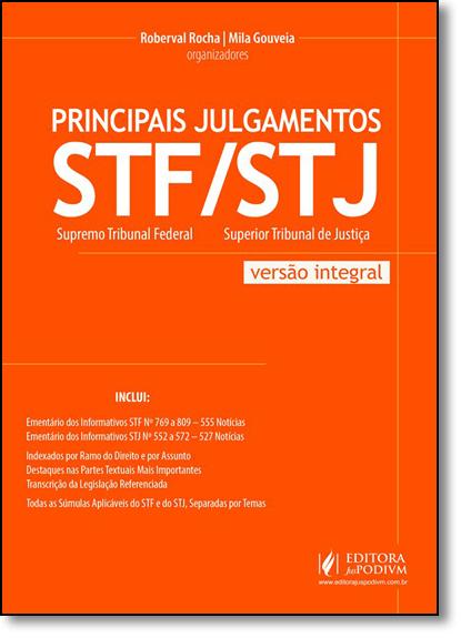 Principais Julgamentos do Stf e Stj - Versão Integral, livro de Roberval Rocha