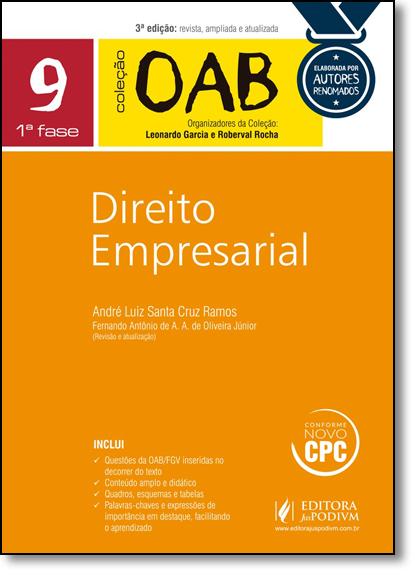 Direito Empresarial - Coleção Oab - Vol.9, livro de André Luiz Santa Cruz Ramos
