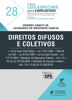 Direitos difusos e coletivos - 8ª edição, livro de Leonardo de Medeiros Garcia, Leonardo de Medeiros Garcia, Hermes Zaneti Jr.