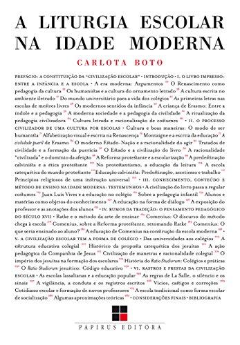 A Liturgia Escolar na Idade Moderna, livro de Carlota Boto