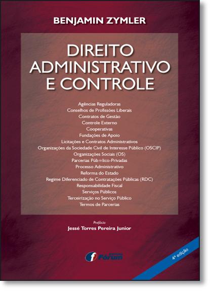 Direito Administrativo e Controle, livro de Benjamin Zymler