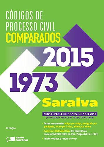 Códigos de Processo Civil Comparados Saraiva de 1973 a 2015 - Edição 2016, livro de Editora Saraiva