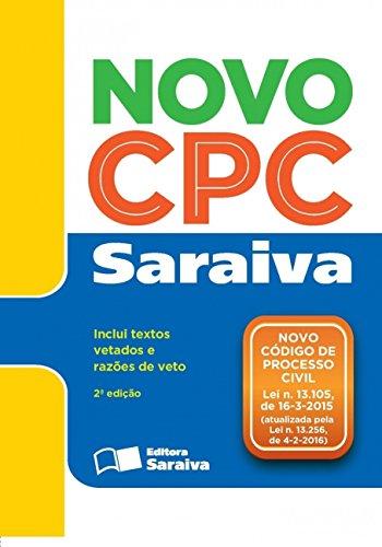 Novo Código de Processo Civil - Legislação Saraiva de Bolso - Edição 2016, livro de Editora Saraiva