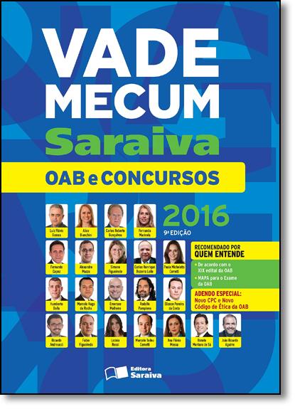 Vade Mecum Saraiva: Oab e Concursos - 2016, livro de EDITORA SARAIVA