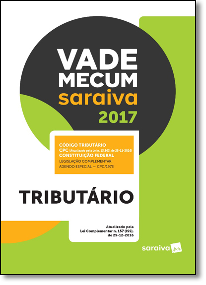 Vade Mecum Saraiva 2017: Tributário, livro de Editora Saraiva