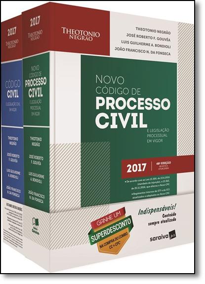 Combo Código Civil e Legislação em Vigor + Código de Processo Civil e Legislação Processual em Vigor, livro de Theotonio Negrão