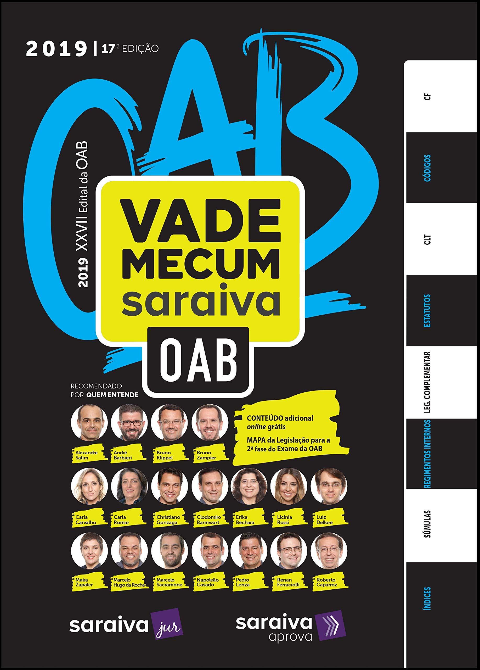 Vade Mecum OAB 2019, livro de Vários Autores
