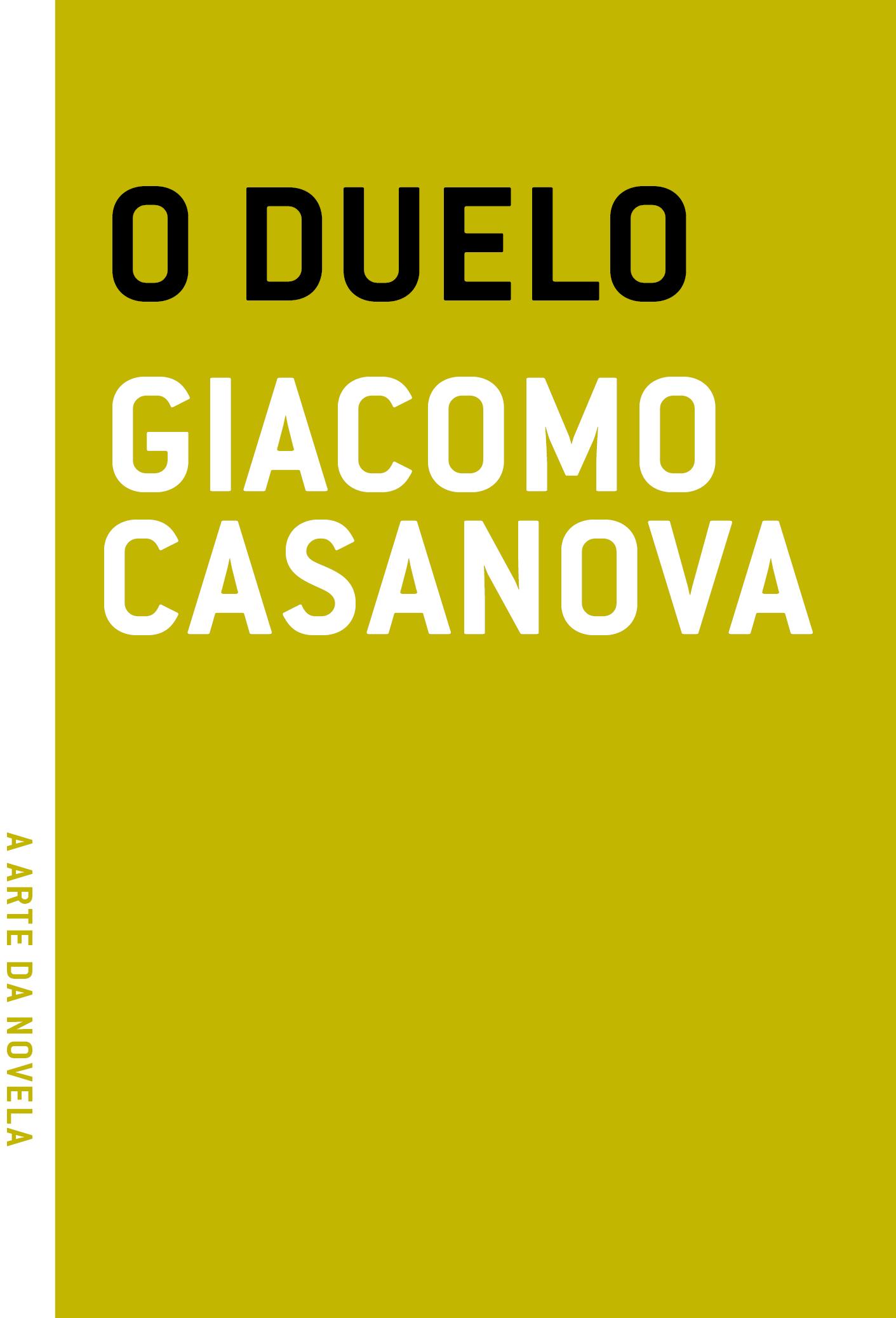 O duelo, livro de Giacomo Casanova