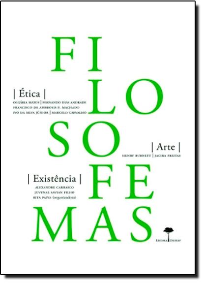 Filosofemas: Ética, Arte, Existência, livro de Rita Paiva