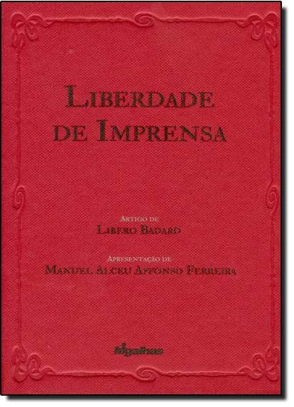 Liberdade de Imprensa, livro de Libero Badaró
