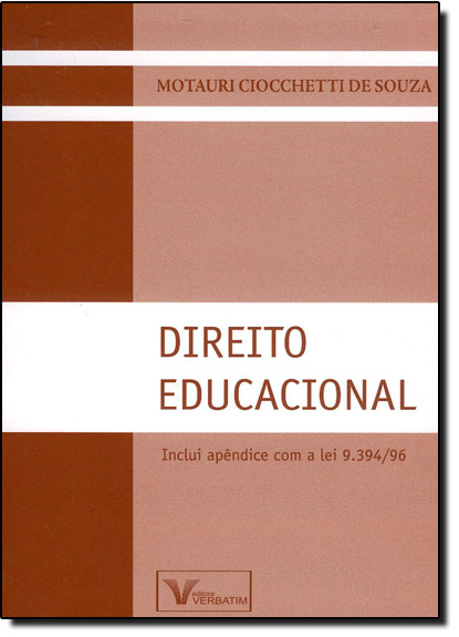 Direito Educacional, livro de Motauri Ciocchetti de Souza