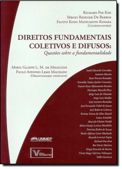 Direitos Fundamentais Coletivos e Difusos, livro de Sérgio Resende de Barros