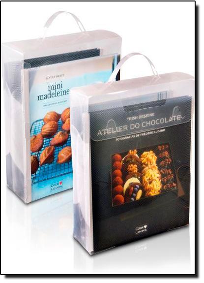 Kit Maleta Cook Lovers 2 Livros Mini Madeleines + Atelier do Chocolate - Com Luvas Térmicas, livro de André Boccato