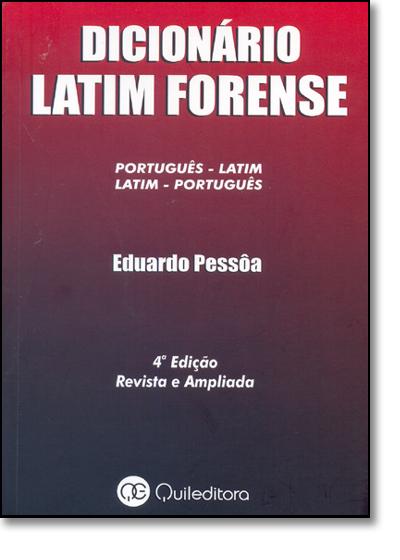 Dicionário Latim Forense, livro de Renato Kaufmannn