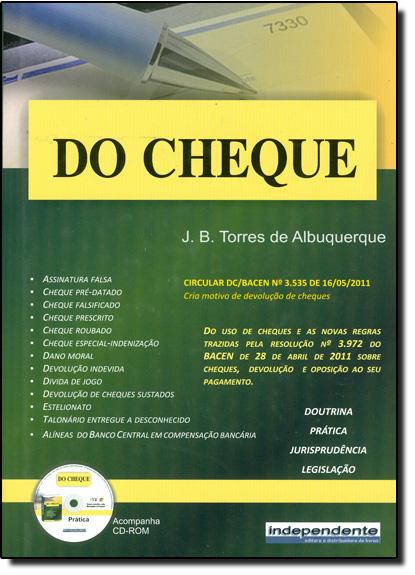 Cheque, Do, livro de J. B. Tôrres de Albuquerque