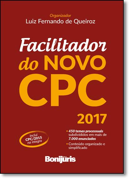 Facilitador do Novo Cpc, livro de Luiz Fernando de Queiróz