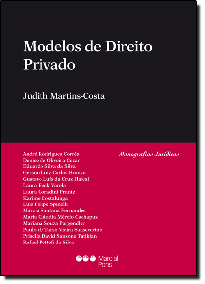 Modelos de Direito Privado, livro de Judith Martins Costa
