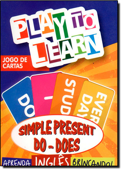Simples Present Do - Does - Jogo de Cartas - Aprenda Inglês Brincando, livro de Márcia Cristina Carvalho Garcia
