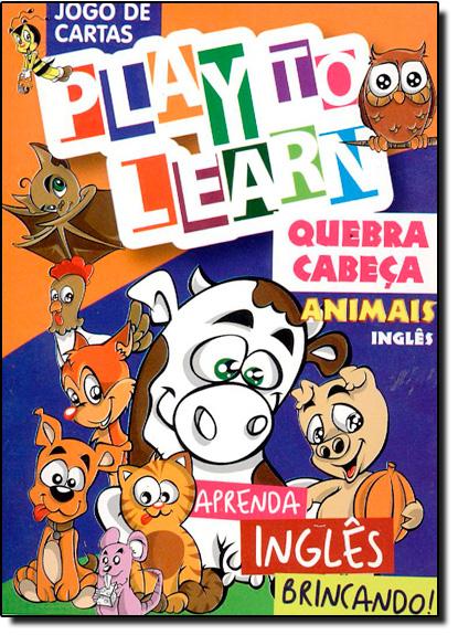 Quebra Cabeça: Animais Inglês - Jogo de Cartas - Aprenda Inglês Brincando, livro de Márcia Cristina Carvalho Garcia