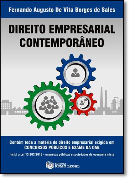 Direito Empresarial Contemporâneo, livro de Fernando Augusto de Vita Borges de Sales