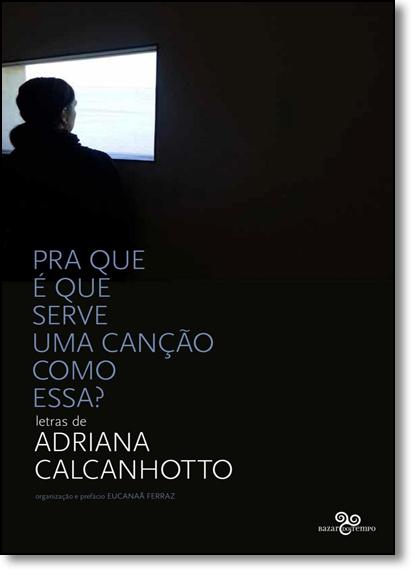 Pra Que É Que Serve Uma Canção Como Essa? - Letras de Adriana Calcanhotto, livro de Adriana Calcanhotto