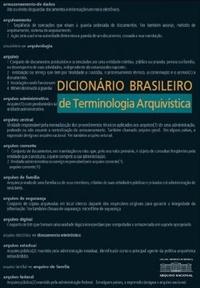 Dicionário Brasileiro de Terminologia Arquivística, livro de Arquivo Nacional