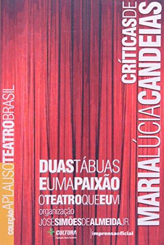Coleção Aplauso Críticas: Maria Lúcia Candeias : duas tábuas e uma paixão, livro de José Simões de Almeida Jr. (organizador)