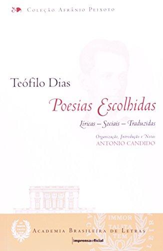 Teofilo Dias - poesias escolhidas, livro de Antonio Candido