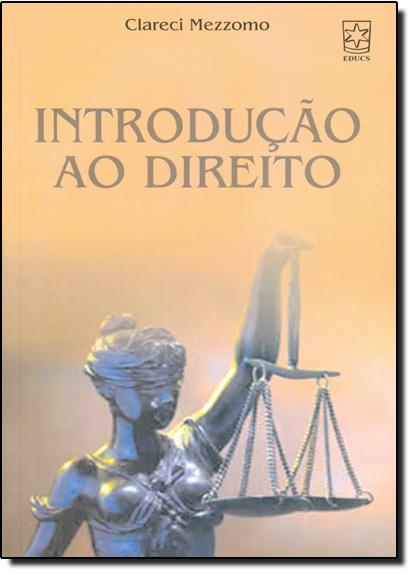 Introdução ao Direito, livro de Clareci Mezzomo