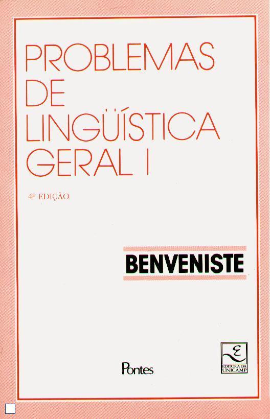 Problemas de Linguística Geral I, livro de Émile Benveniste