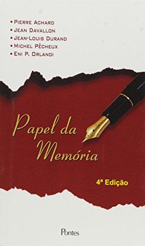 Papel da memória, livro de Michel Pêcheux, Eni Pulcinelli Orlandi