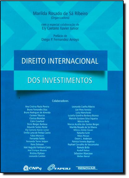 Direito Internacional dos Investimentos, livro de Marilda Rosado de Sá Ribeiro