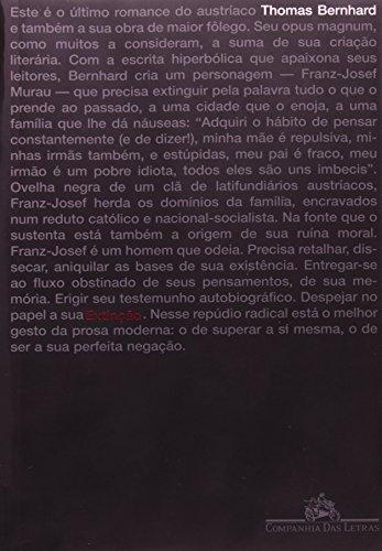 EXTINÇÃO, livro de Thomas Bernhard
