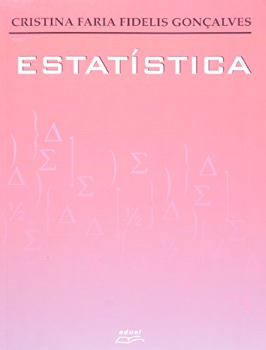 Estatística, livro de Cristina Faria Fidelis Gonçalves