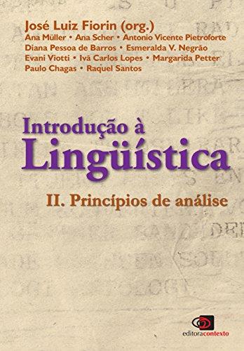 Introdução à Linguística II. Princípios de Análise, livro de José Luiz Fiorin