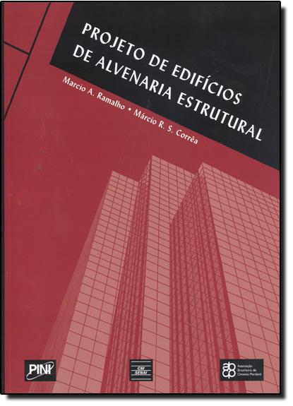 Projeto de Edifícios de Alvenaria Estrutural, livro de Marcio Antonio Ramalho