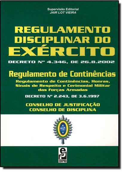 Regulamento Disciplinar do Exército, livro de Jair Lot Vieira