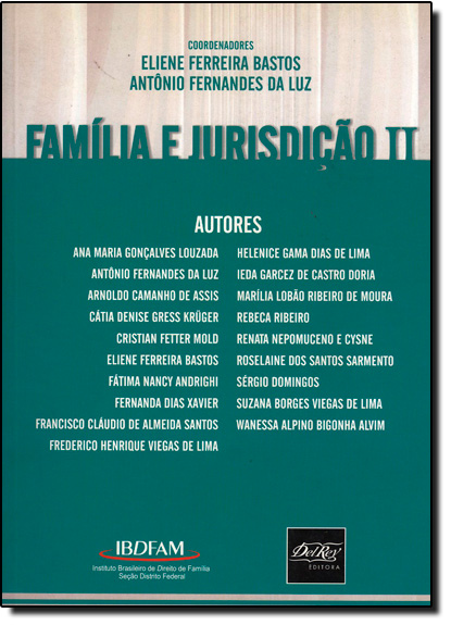 FAMILIA E JURISDICAO II, livro de Maria do Socorro Rocha Bastos