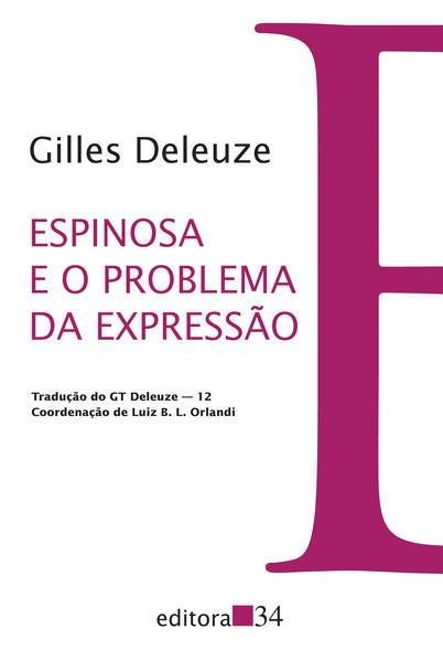 Espinosa e o Problema da Expressão, livro de Gilles Deleuze