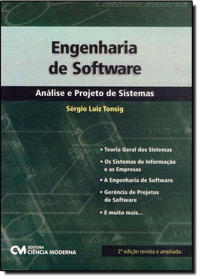 Engenharia de Software: Análise e Projeto de Sistema, livro de Sérgio Luiz Tonsig