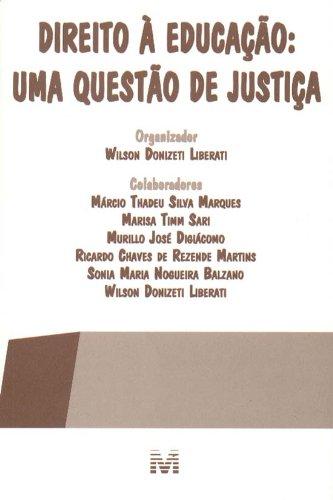 Direito à Educação. Uma Questão de Justiça, livro de Vários Autores