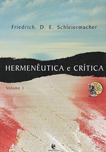 Hermenêutica e Crítica, livro de Friedrich D. E. Schleiermacher