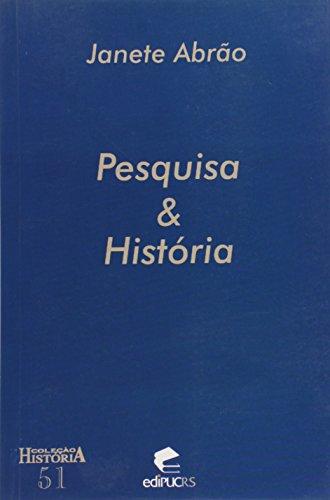 Pesquisa E Historia, livro de