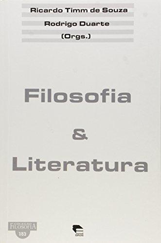 Filosofia e Literatura, livro de Ricardo Timm de Souza