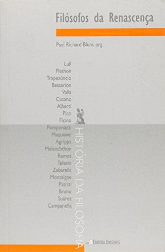 FILOSOFOS DA RENASCENCA, livro de BLUM