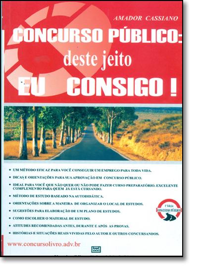 CONCURSO PUBLICO, livro de CASSIANO, AMADOR