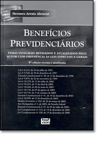 Benefícios Previdenciários, livro de Hermes Arrais de Alencar