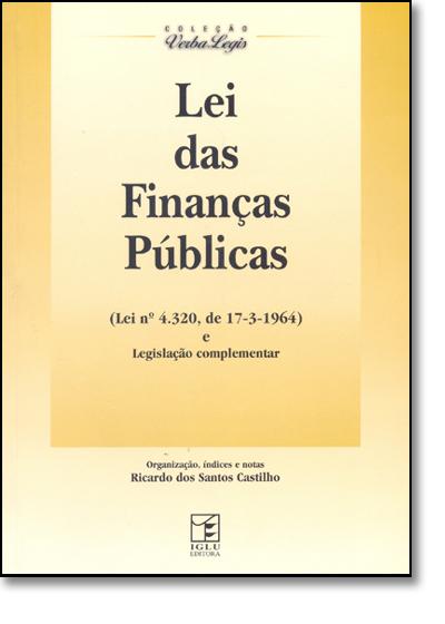 Lei das Finanças Públicas, livro de Ricardo dos Santos Castilho