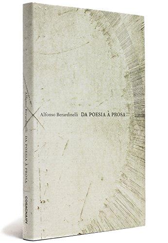 Da Poesia à Prosa, livro de Alfonso Berardinelli